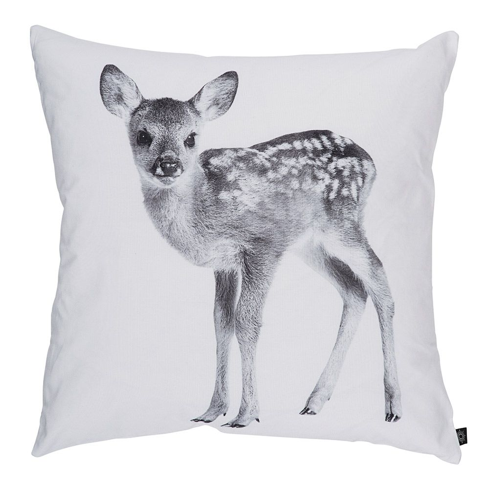 It's Bambi! An adorable addition to the cushion stack.