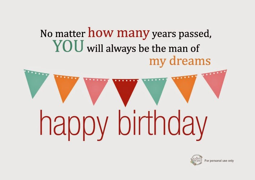 Free Printable Birthday Quote For Husband Bahador Pinterest