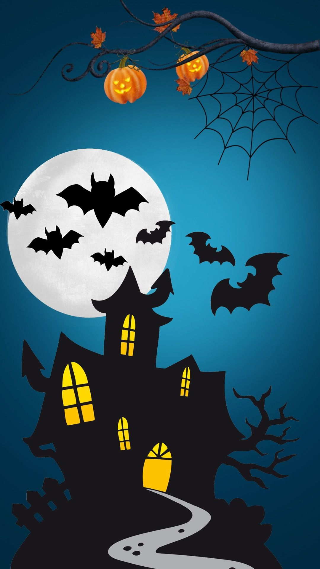 Spooky House Wallpaper With Images Halloween Prints Halloween