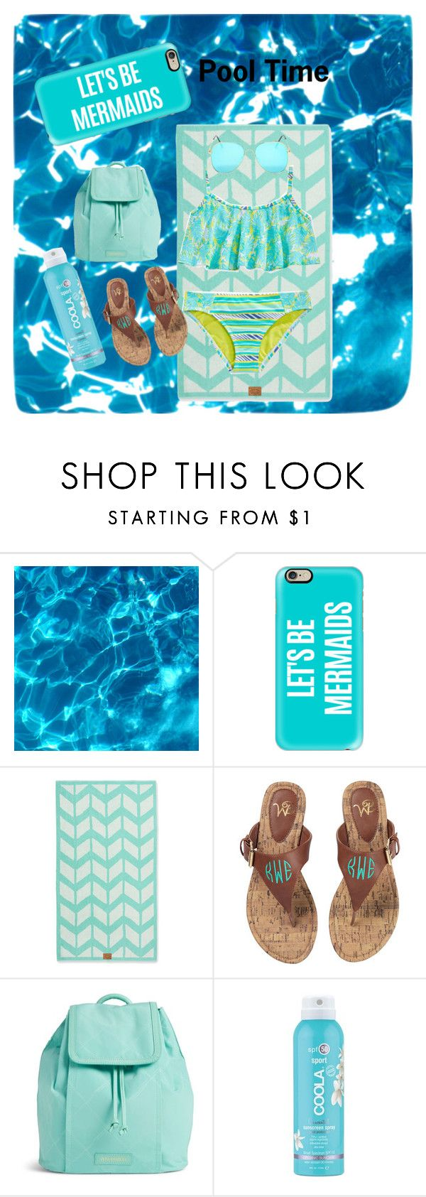 Pool Time by kwiggins2021 on Polyvore featuring Vera Bradley, Casetify, COOLA Suncare, women's clothing, women's fashion, women, female, woman, misses and juniors