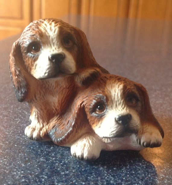 Harvey Knox Long Eared Puppies D547a Dog By Uglyducklingantiques
