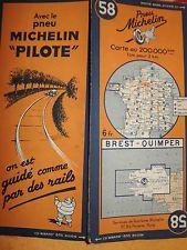 Carte Michelin 58 Brest Quimper 1938 Carte Michelin Carte France
