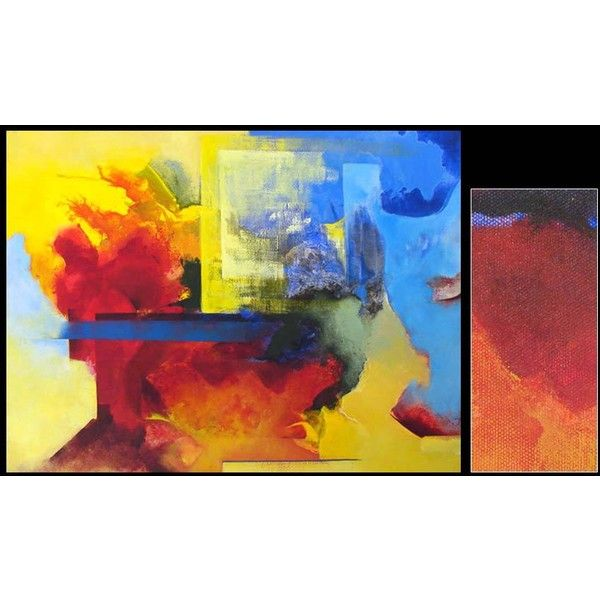 NOVICA Brazilian Abstract Painting ($490) ❤ liked on Polyvore featuring home, home decor, wall art, art, backgrounds, paintings, abstract paintings, abstract painting, flower canvas wall art and abstract flower paintings