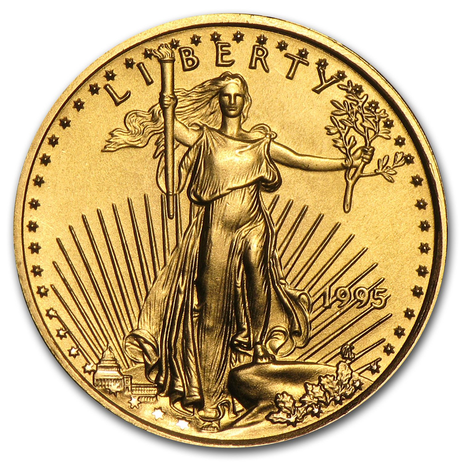 1995 1 10 Oz Gold American Eagle Coin Brilliant Uncirculated Sku 4703 Gold Bullion Coins Gold American Eagle Gold Eagle Coins