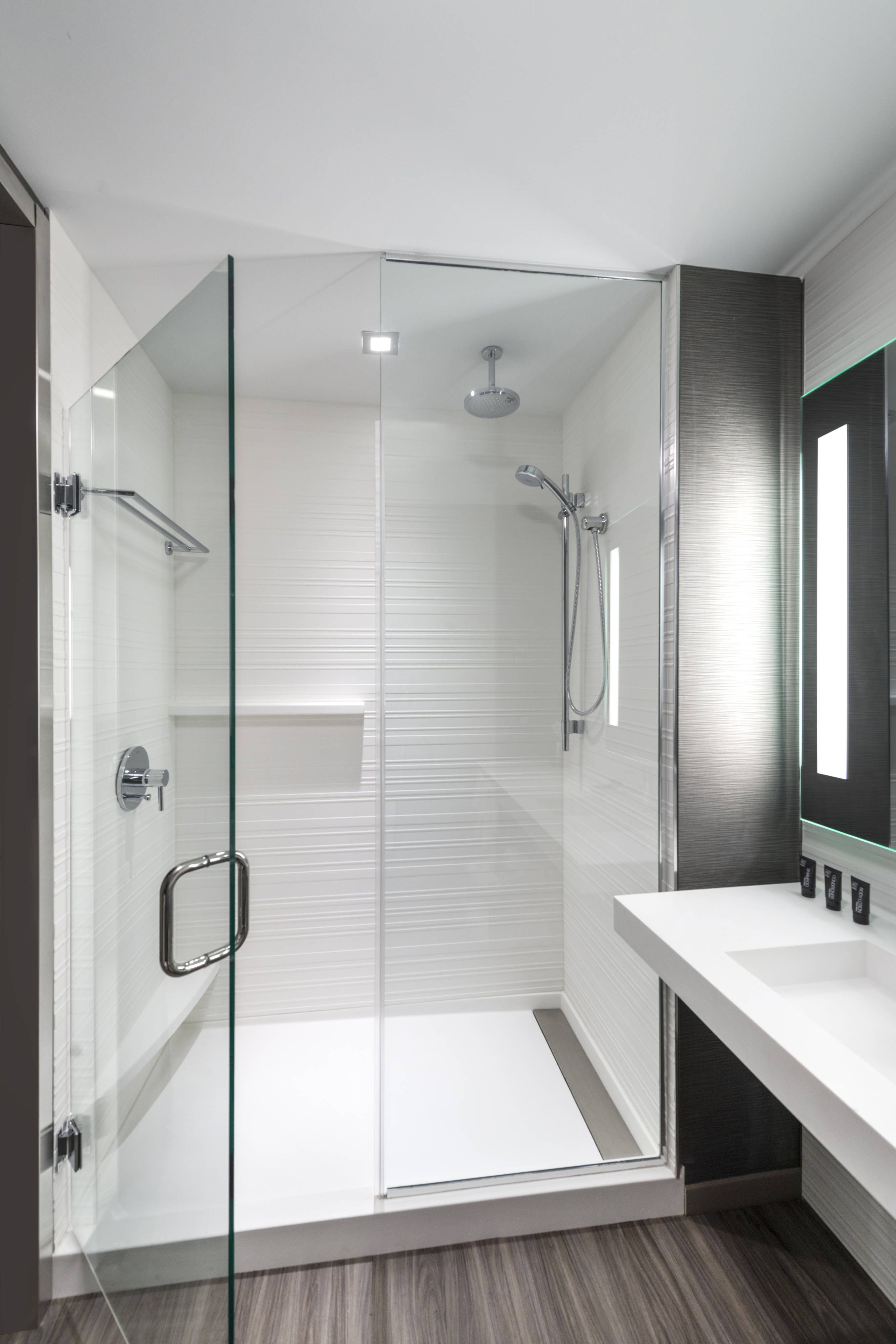 Ac Hotel Boston North Suite Bathroom Shower Guestroom Holiday Hotels Boston Hotels Ac Hotel Hotel