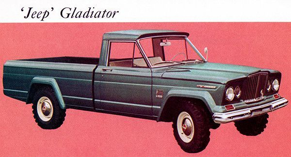 1967 Jeep Gladiator Promotional Advertising Poster Classic