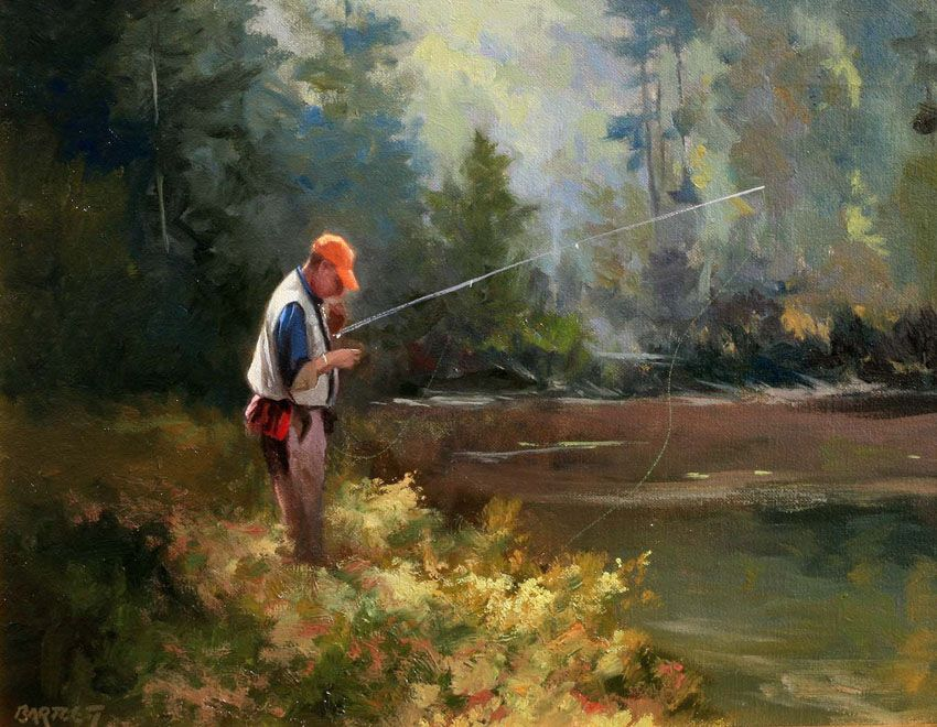 Loyal and i both love to fish he is really good at it for Fly fishing art