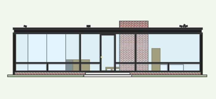 Glass House  Section   Glass House x Philip Johnson   Pinterest    Glass House  Section   Glass House x Philip Johnson   Pinterest   Glass Houses  House Elevation and Glasses