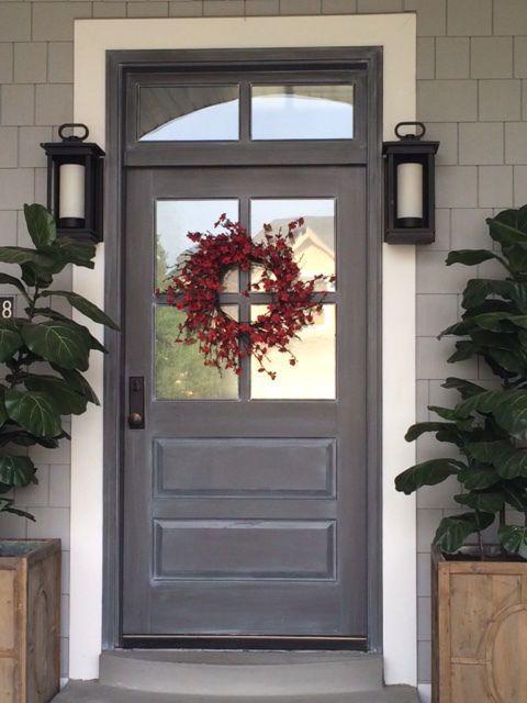 4 Lite Paint Grade Poplar Entry Door 36 X 80 With Transom Entry Doors Exterior Doors With Glass Front Entry Doors