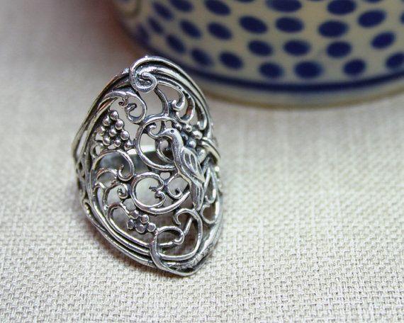 Elegant Design; Charm Bangle. INDIAN Floral Mandala Style Silver Bangle; Great Stacking Bangles; Granulation; 925 Sterling Silver; Unique