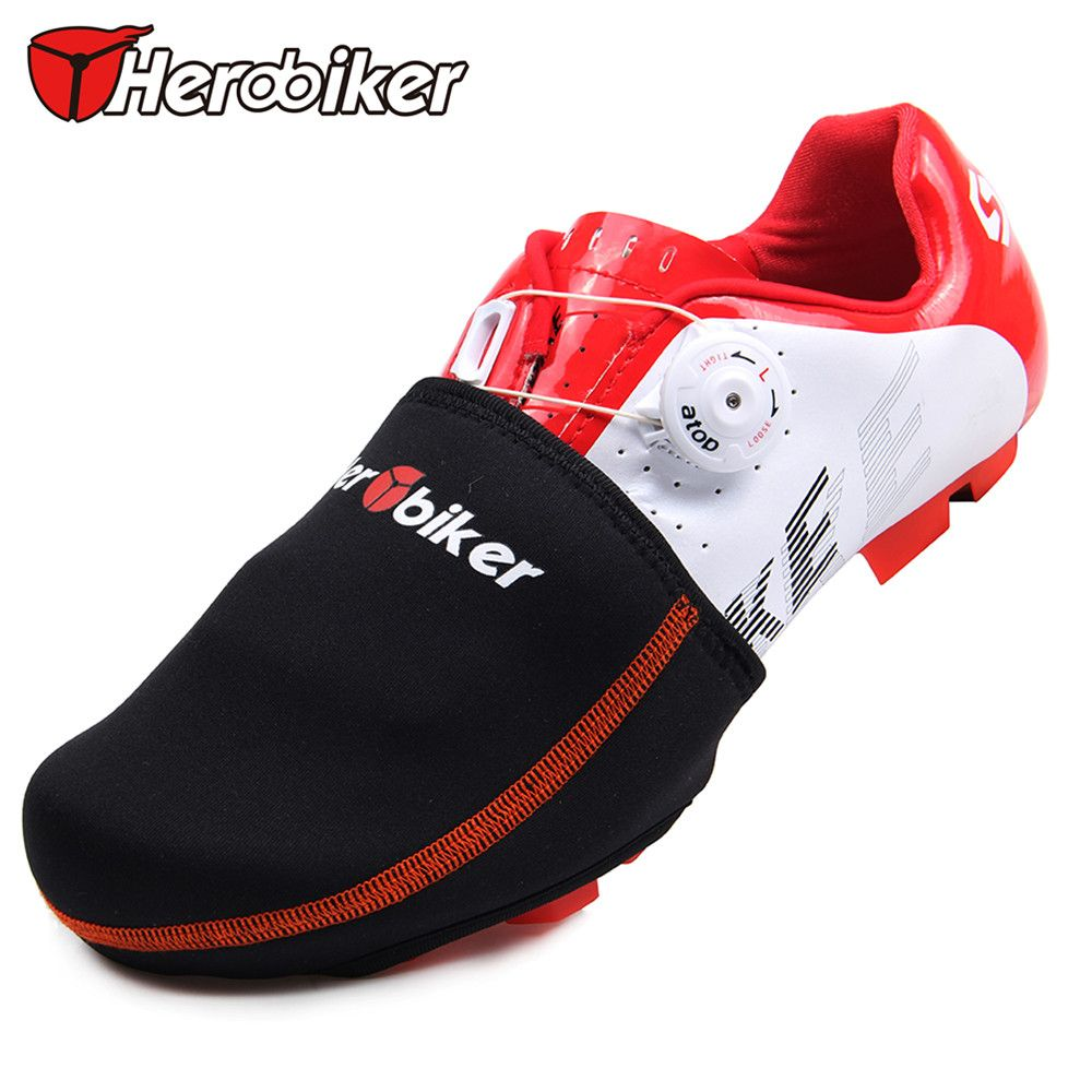 Herobiker Bicycle Bike Shoes Cover Road Mtb Bike Cycling Shoes Toe Cover Winter Waterproof Warm Protector Boot Case Oversh Shoe Covers Bike Shoes Cycling Shoes