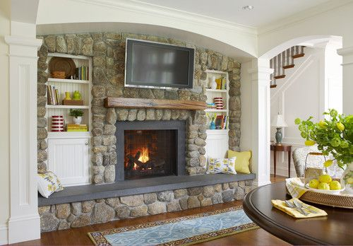Living Room Close Up The Fireplace Mount Tv Make Seating Pad Like This For Hearth Seating Design Pi Fireplace Design Fireplace Built Ins Fireplace Seating