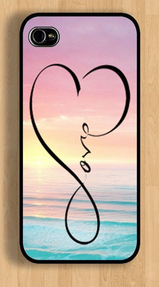 Sunset heart infinity love cute iphone 4 5 6 case infinity apple custom apple iphone 4 4s or 5 5s 6 case cover sunset heart infinity love altavistaventures Images