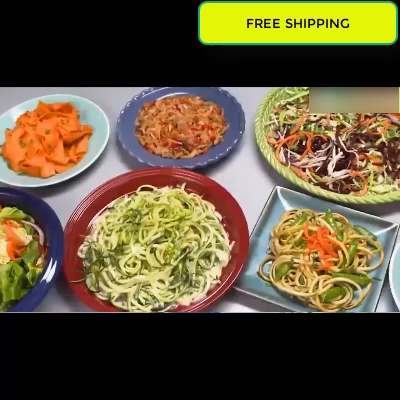 Electric Spiralizer Turn Veggies Into Healthy Delicious Meals As Seen on TV - #as #Delicious #Electric #Healthy #Into #Meals #on #Seen #Spiralizer #Turn #TV #Veggies