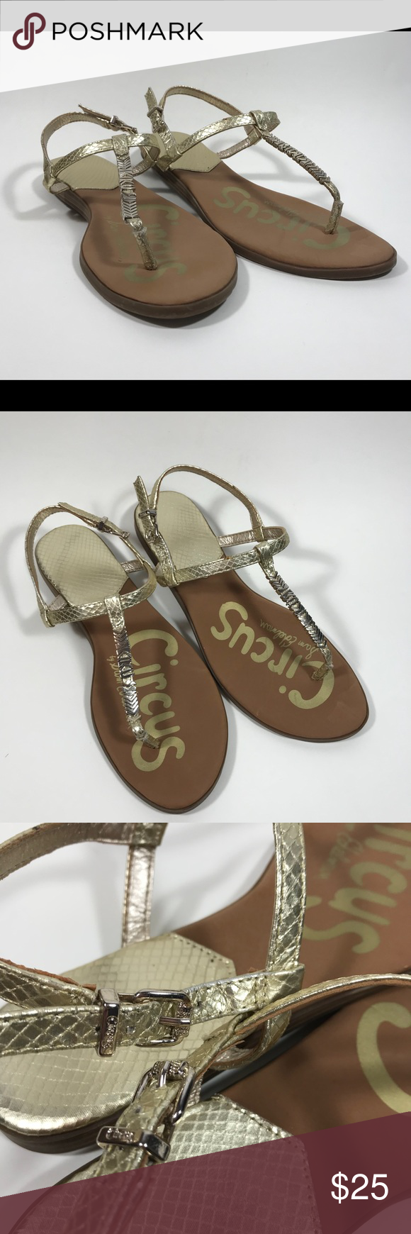 9a704f0623b32 Sam Edelman Circus Sandals Good condition~~ Flat Lay Measurements