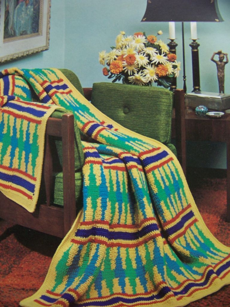 Vintage Sioux Indian Afghan Crochet Pattern   Crochet: Graphghans ...