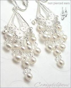 Clip On Earrings For Women  Winter Wonderland