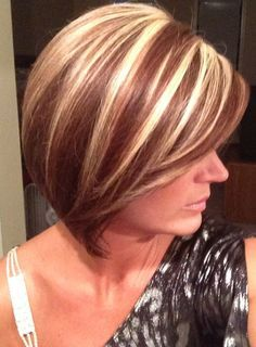 Hair Coloring Image Result For Blonde Chunky Highlights Short
