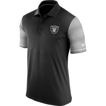 Men s Oakland Raiders Nike Black Early Season Performance Polo ... 0fc7e7174