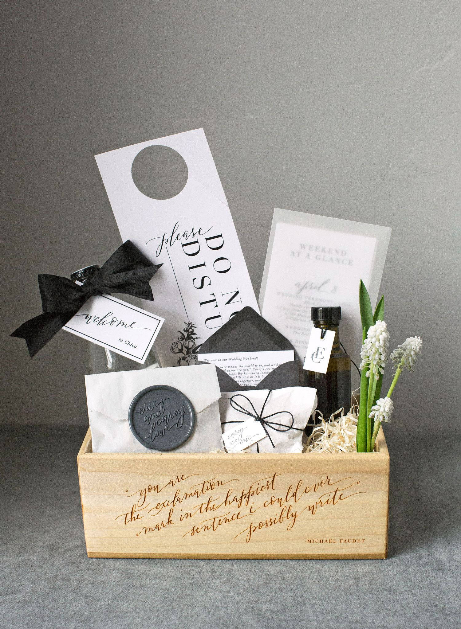 46 Welcome Bags From Real Weddings Wedding Welcome Gifts