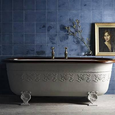 Oh so love this Bathroom - where can I get a tub like this?