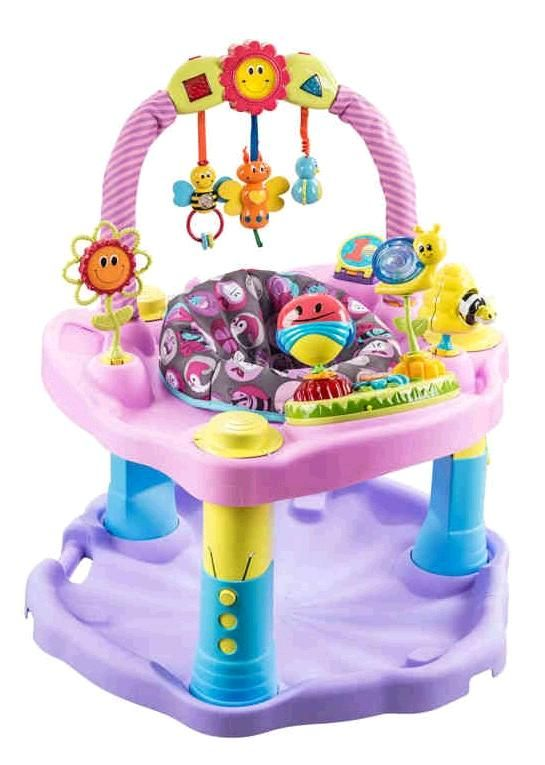 The Evenflo Exersaucer Double Fun Saucer Pink Bumbly