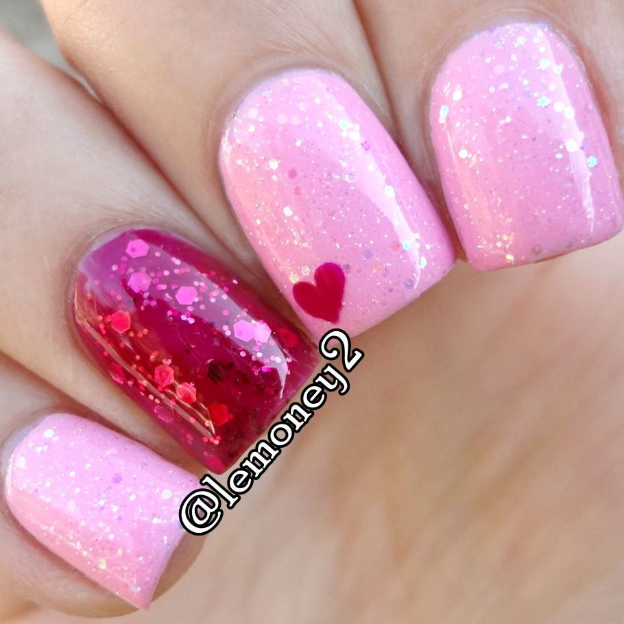 50+ Cute Valentine\'s Day Nail Art Design As A Lovely Reminder Of ...