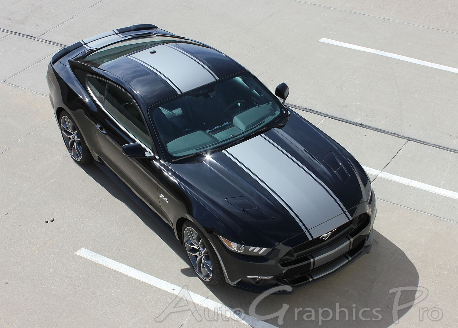 2015 2016 2017 ford mustang super snake contender mohawk center wide racing rally stripes