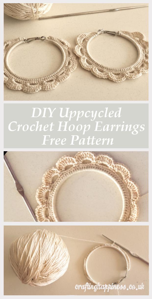 Recyclez une paire de vieilles boucles d'oreilles créoles en de belles boucles d'oreilles au crochet avec ce bricolage gratuit Patt …   – DIY Beauty