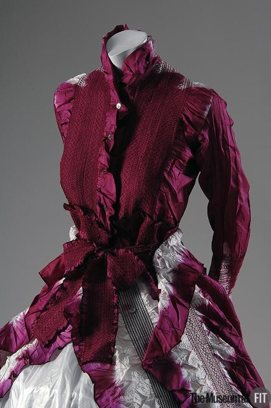 Yoshiki Hishinuma, evening dress with smocking, Fall 1996, Collection of The Museum at FIT
