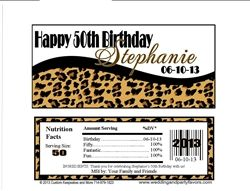 Leopard Print Birthday Candy Wrappers