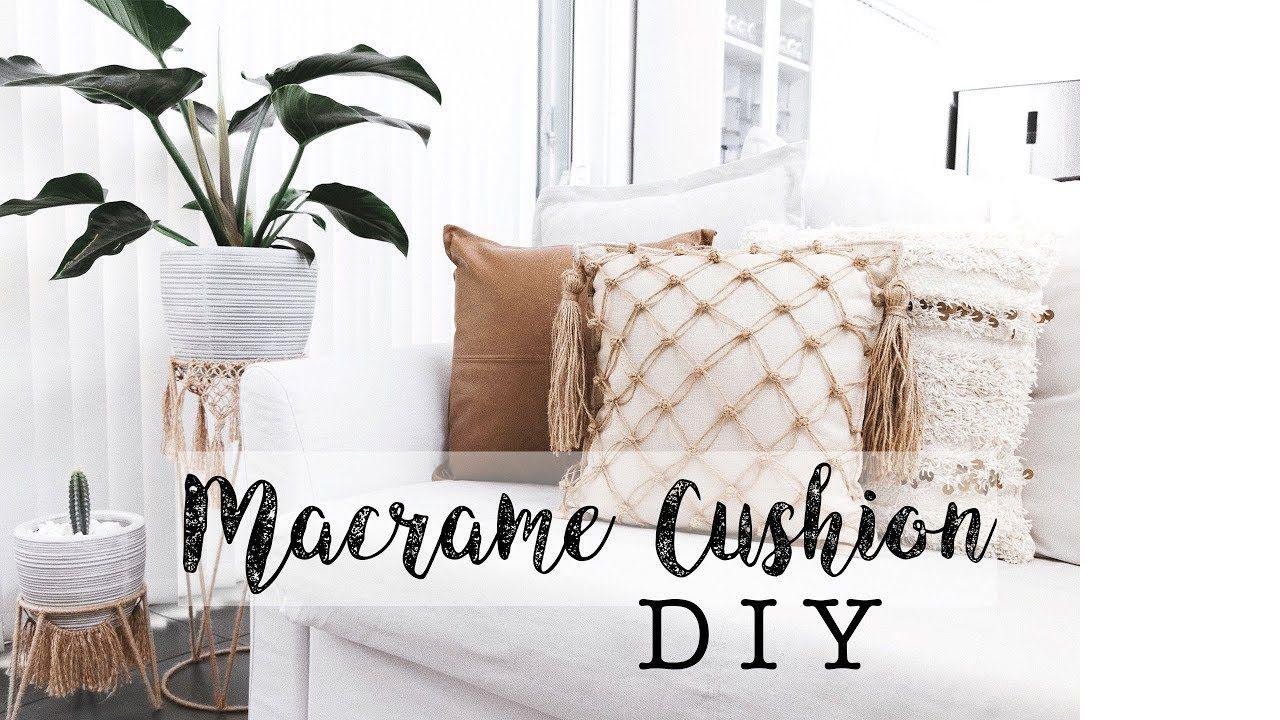 Macrame Cushion Cover Tutorial Macrame DIY Kmart Hack