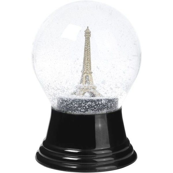 Vienna Snowglobes Eiffel Tower Snow Globe (76 BRL) ❤ liked on Polyvore featuring home, home decor, holiday decorations, mini snow globes, mini ornaments, traditional home decor, mini figurines and mini figure