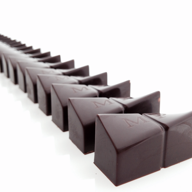 CUSTOM DARK CHOCOLATE BLACK OLIVE CARAMEL BONBONS BY SWALLOW MY WORDS.