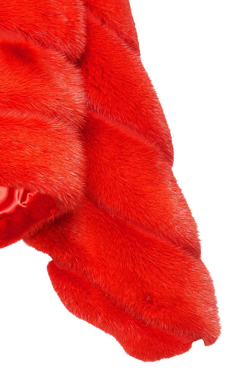 Detail | Mink Fur Cropped Jacket  | Alberta Ferretti's P/F17 Collection at Moda Operandi.