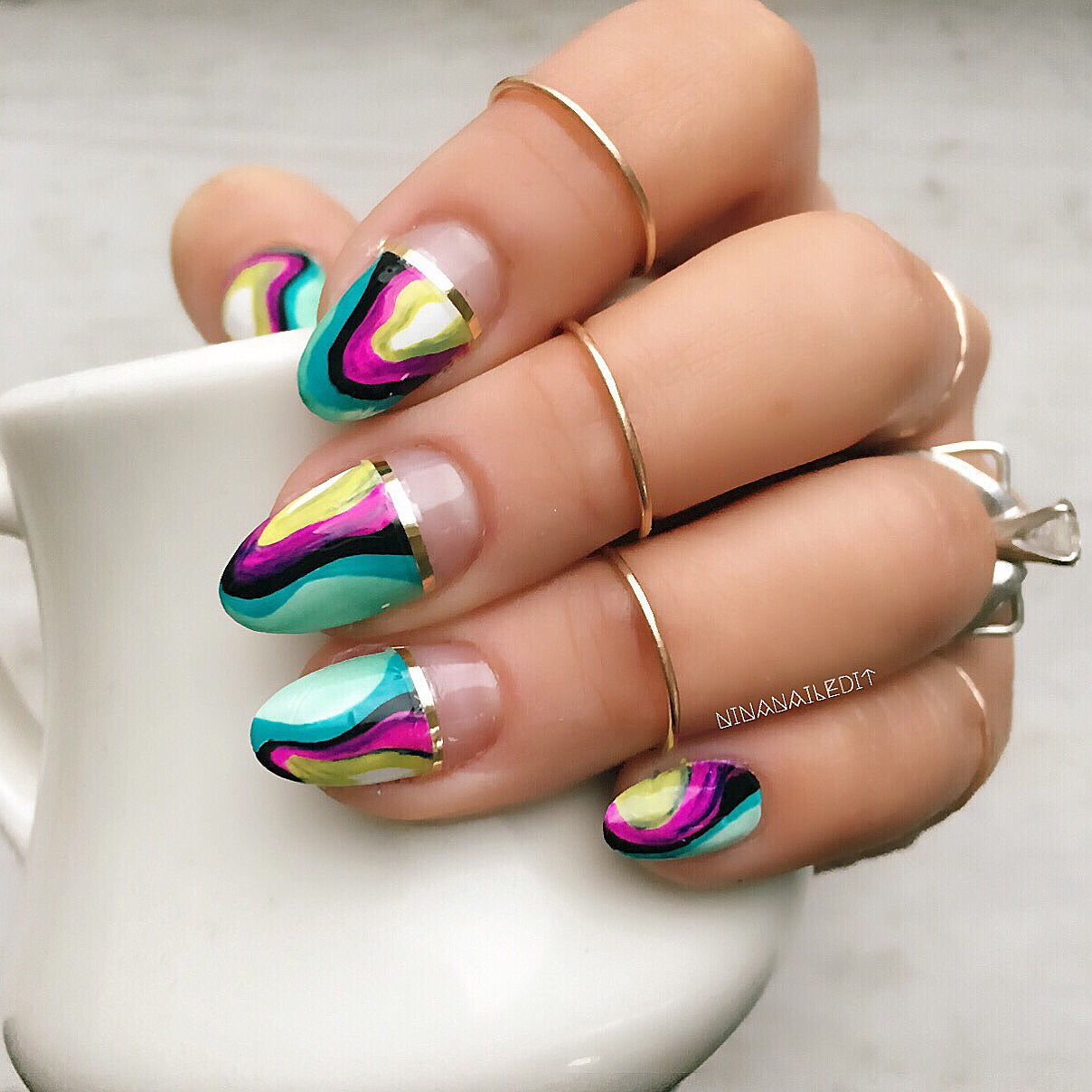 mpnails inspired! I used @sally_hansen #completesalonmanicure in ...