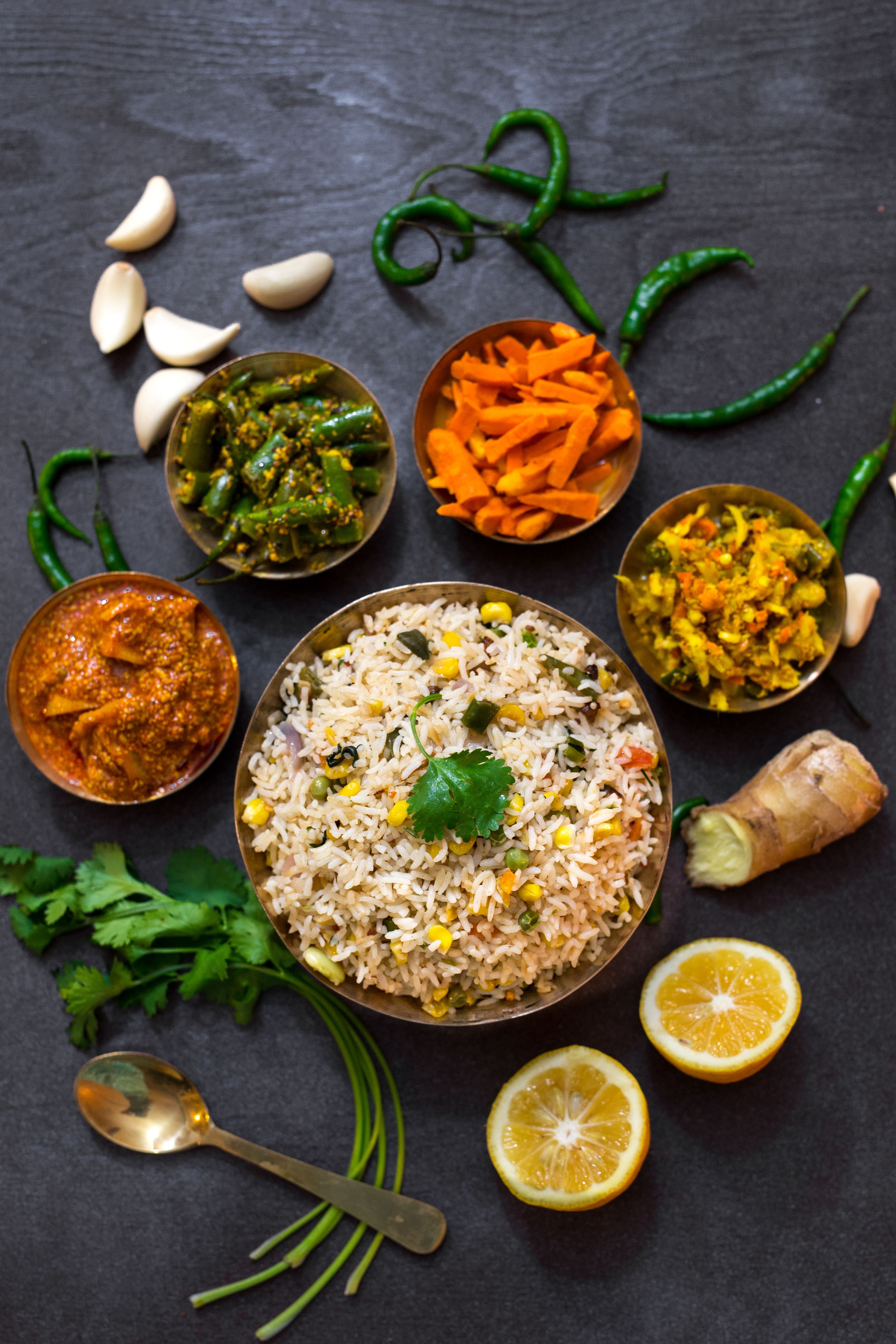 Vegetarian pulao pickle platter recipe forumfinder Image collections