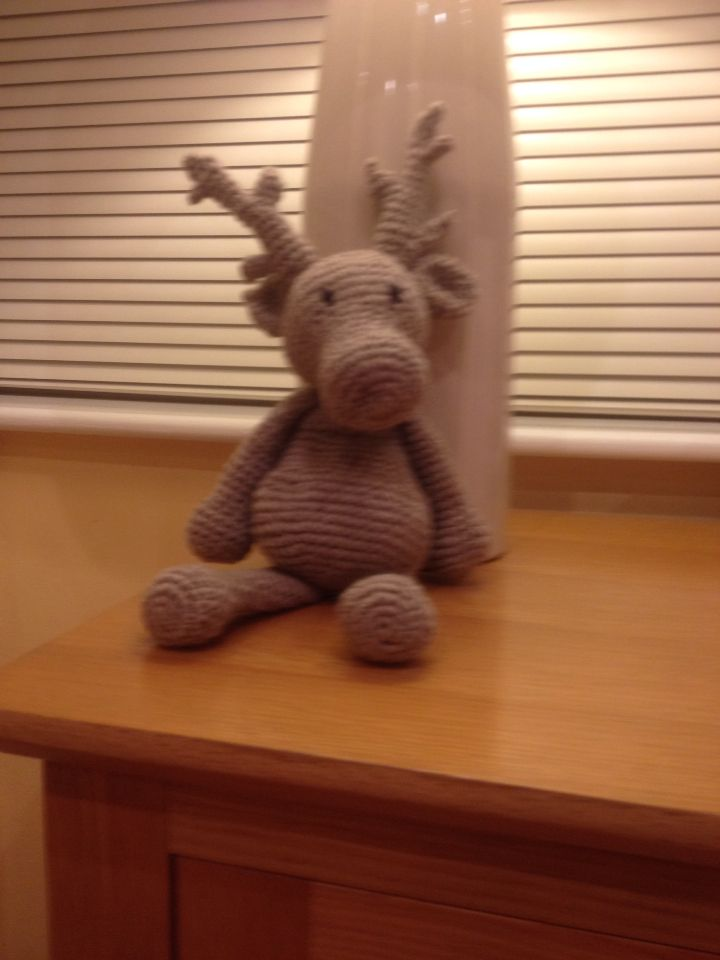 Reindeer made in Toft Yarn - pattern Kerry Lord  | Crochet