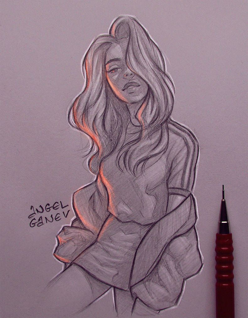 Riddle Day 295 By Angelganev Cool Art Drawings Cool Drawings Girl Drawing Sketches