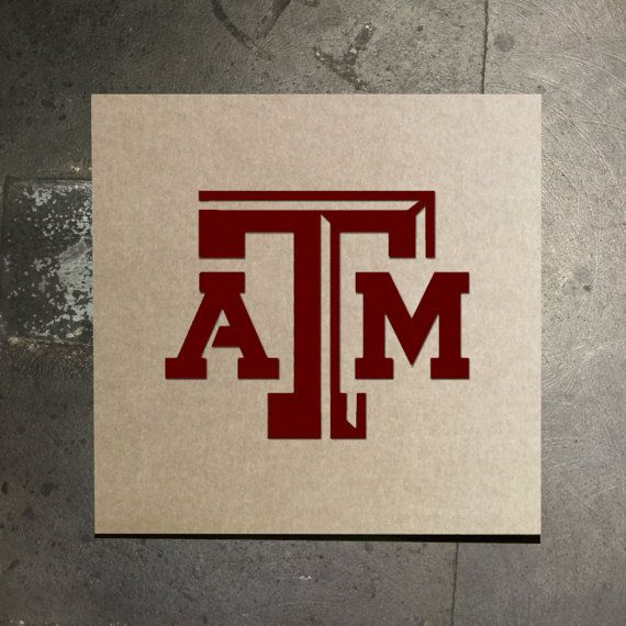 f7dcad577 Texas A&M Aggies Stencil by TheStencilStop on Etsy | NCAA | Texas ...