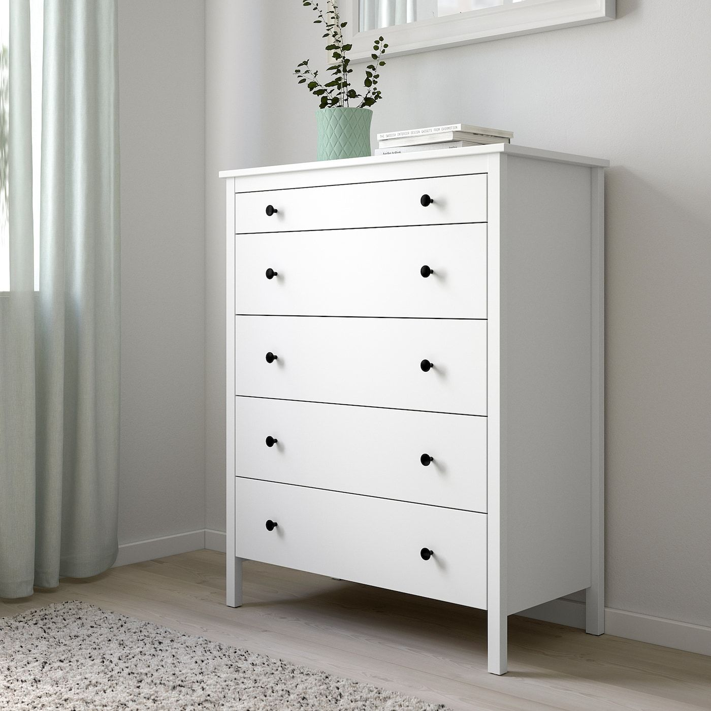 Best Ikea Koppang 5 Drawer Chest White In 2020 White Chest 400 x 300