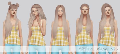 Mega Hair Pack For The Sims 4 Hair Pack Sims 4 Sims