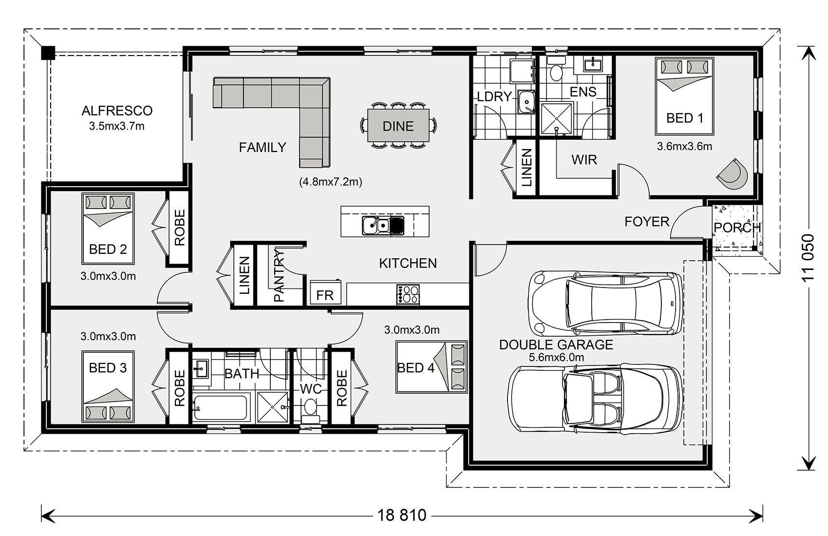 Floor Plan Bungalow floor plans, Custom home builders
