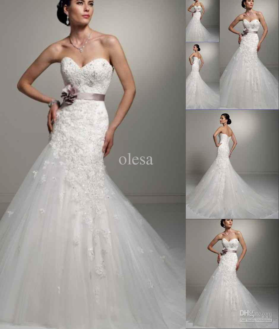 Bella naija wedding dresses custom made seetheart modest for Mermaid style wedding dresses with bling