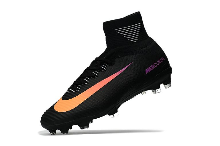 Nike Mercurial Superfly V Black Gradient Orange Purple Soccer Cleats Sport Shoes Superfly