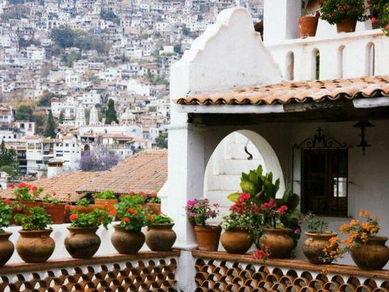 Macetas en Taxco.