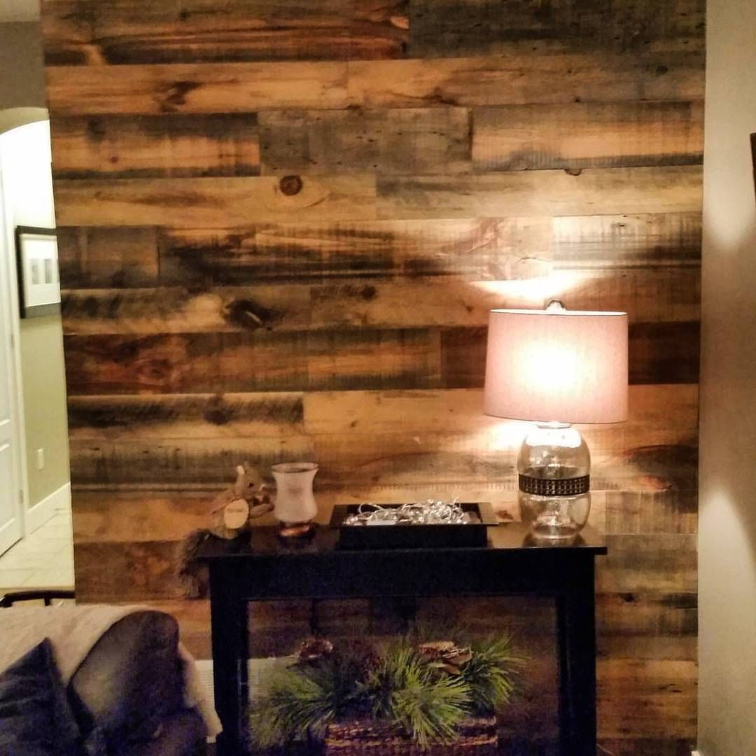 Wood Feature Accent Wall Ideas Using Flooring: DIY Feature Wall Project By One Of Our Clients