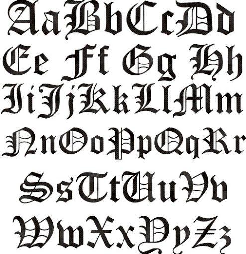 El Post De Las Letras Letras Goticas Cursivas Letras Goticas Abecedario Estilos De Letras
