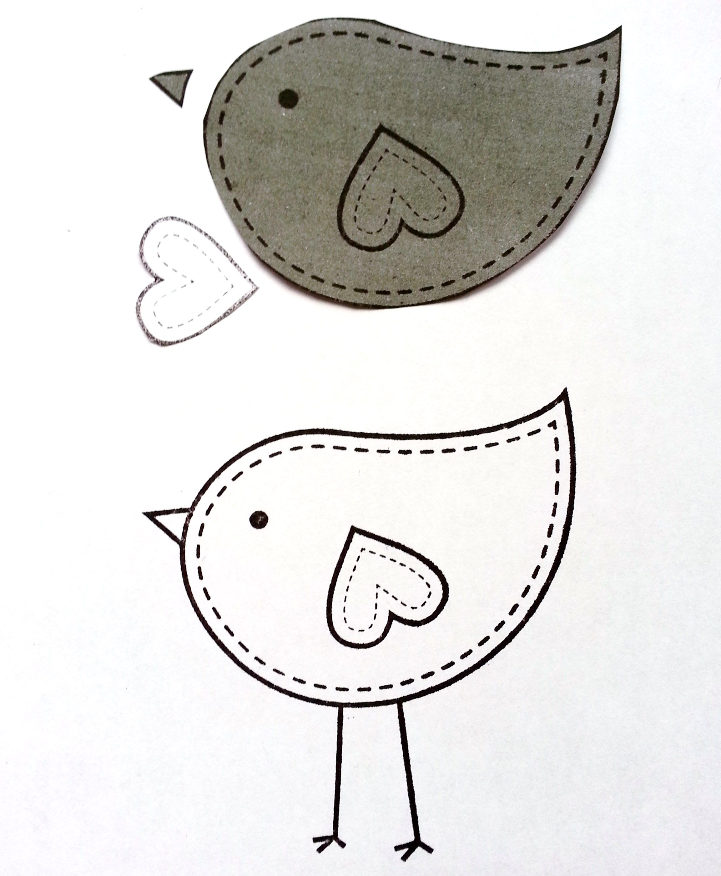 Felt Bird Template Free  Google Search  Felt    Bird