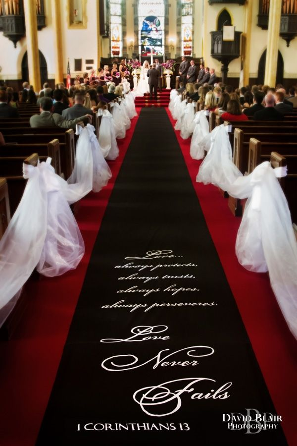 Lisa And Patrick S Louisville Wedding Church Wedding Decorations Wedding Church Decor Aisle Runner Wedding